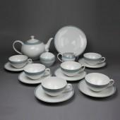 SOLD Arzberg Form 2000 Graublaue Streifen, Teeservice für 6 Personen