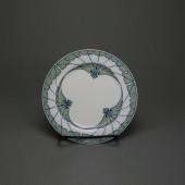 "Meissen T glatt plate ""wing pattern"" by Rudolf Hentschel, 15,5 cm 1. quality"