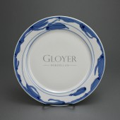 SOLD Meissen art nouveau plate with arnika pattern by Rudolf Hentschel, 26,8 cm