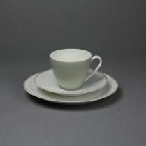 VERKAUFT Arzberg Form 2025 grau, Gedeck mit Kaffeetasse