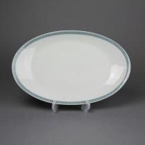 VERKAUFT Arzberg Form 2000 Graublaue Streifen, Schale oval 26,5 cm
