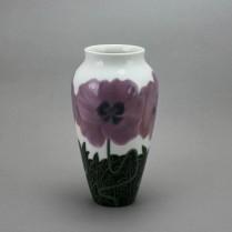 Bing & Gröndahl Jugendstil Vase mit Mohnblüten um 1900